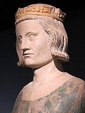 Tête d'une statue représentant Louis IX.