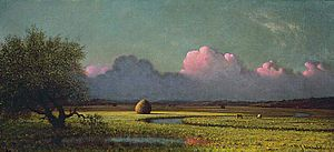 Newbury, Massachusetts - Sunlight and Shadow: The Newbury Marshes, c. 1871-1875, by Martin Johnson Heade