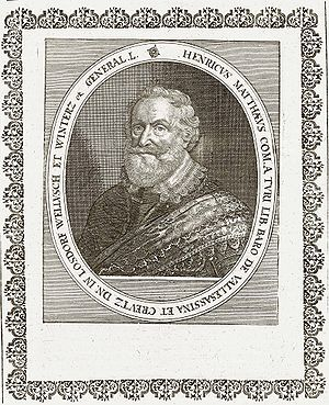 Jindřich Matyáš Thurn - Matthäus Merian: Count Jindrich Matyas Thurn-Valsassina, copperengraving, 1662