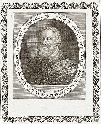 Jindřich Matyáš Thurn - Count Jindrich Matyas Thurn-Valsassina by Matthäus Merian, copperengraving, 1662.