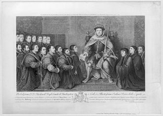 Bernard Baron - Henry VIII granting the Charter to the Barber-Surgeons' Company, after the painting by Hans Holbein the Younger.