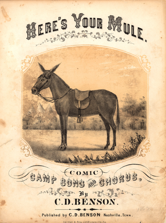 Comic song - Here's Your Mule — a comic song of 1862