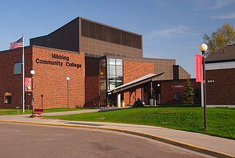 Hibbing Community College - Main entrance of Hibbing Community College