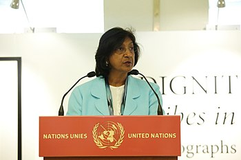 High Commissioner for Human Rights Pillay Spea...