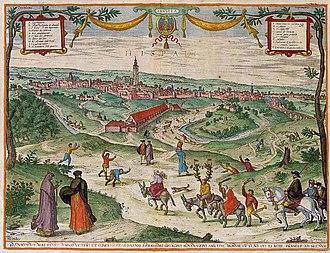 Joris Hoefnagel - View of Seville from 'Civitates Orbis Terrarum'