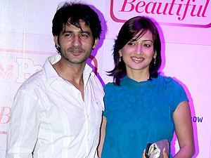 Hiten Tejwani - Tejwani with wife Gauri Pradhan at an event.