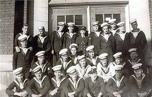 HMCS Baddeck (K147) -  left