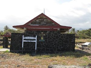 Punalu'u Beach - The Henry Opukahaia Chapel