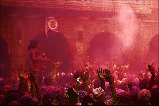 Holi at Banke Bihari Temple