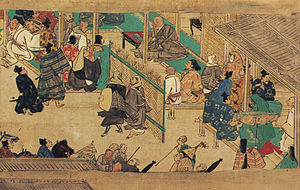 Hōnen - Honen - public preach, Chion-in version, 14th century
