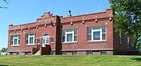 Hooker County, Nebraska courthouse from NE 1