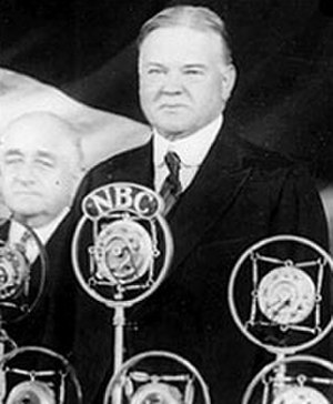 United States presidential election, 1932 - Hoover addresses a large crowd in his 1932 campaign.