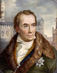 Miniature of Mayor von Schon (1773-1856), province of Treupen.