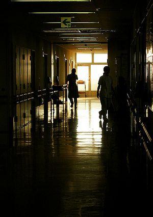 Fresnel equations - Image: Hospital corridor 2