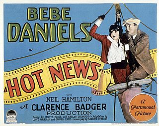 <i>Hot News</i> 1928 film by Clarence G. Badger