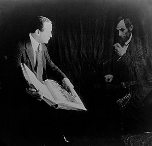 Houdini and the ghost of Abraham Lincoln, c. 1...