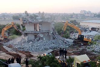 Dahmash - House demolition in Dahamash April 2015