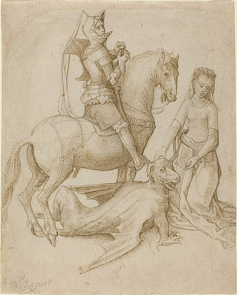 File:Hugo van der Goes - Saint George and the Dragon.jpg
