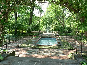 Cleveland Cultural Gardens - The Hungarian Cultural Garden (1938) is one of 27 nationality gardens in Rockefeller Park National Historic District.