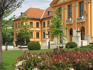 Komárom - Image: Hungary, Komárom, a Városháza a Szabadság téren 001