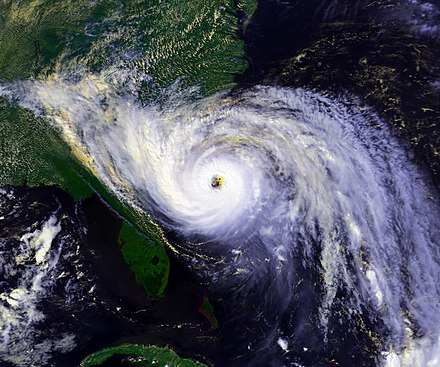 Category 4 Hurricane Hugo in 1989 Hurricane Hugo 1989 sept 21 1844Z.jpg