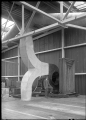 Hutt Railway Workshops at Woburn. Interior view with new heating apparatus, 1929. ATLIB 290018.png