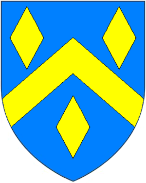 Henry Hyde (died 1634) - Arms of Hyde: Azure, a chevron between three lozenges or
