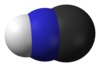 Hydrogen cyanide space filling