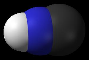 Hydrogen isocyanide - Image: Hydrogen isocyanide 3D vd W