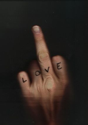 "English: Hypocrite ""Love"" message. A..."