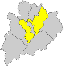 Location of the district in Meizhou