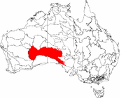 The IBRA regions, with Great Victoria Desert in red