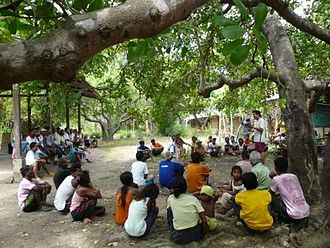 Indigenous and community conserved area -  Discussing ICCA governance issues in Coron Island — one of the first ICCAs to be fully recognized as Ancestral Domain (Terrestrial and marine area), under the collective governance of its indigenous peoples (Tagbanwa) in Palawan (The Philippines)