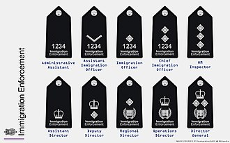 Immigration Enforcement - The ranks of organisation