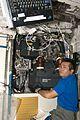 ISS-19 Koichi Wakata works in the Columbus lab.jpg