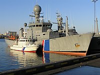 Icelandic coast guard ships in harbour.jpg