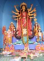 Idol of Goddess Durga at a Panadal in Kolkata 09.jpg