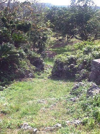 Iha Castle - Image: Iha Castle Bailey from a Battlement