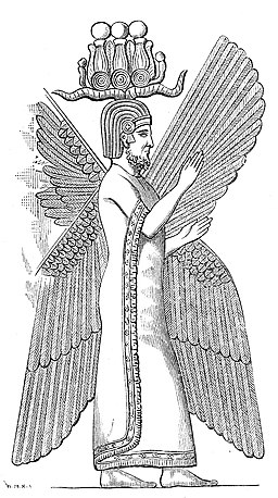 Cyrus the Great with a Hemhem crown