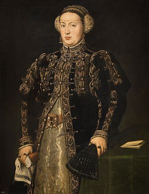 Catherine of Austria, Queen of Portugal - Portrait by Anthonis Mor, 1552