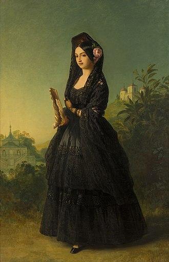 Infanta Luisa Fernanda, Duchess of Montpensier - Luisa Fernanda in 1847