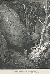 Dante en Enfer, Chant I, par Gustave Doré, 1861