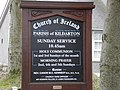 Information board at Kildarton Parish Church (Cof I) - geograph.org.uk - 1755080.jpg