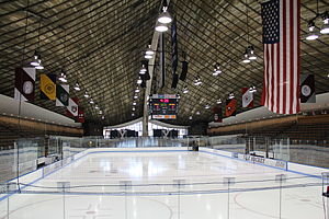 Yale Bulldogs men's ice hockey - Ingalls Rink, completed in 1958