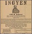 Ingyenes Zola könyvsorozat reklám, Kecskeméti Közlöny, 1928.jpg