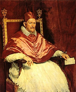 Pope Innocent X, on whose orders Castro was destroyed. Portrait by Diego Velazquez. Innocent-x-velazquez.jpg