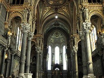 Interior of the Basilique Notre-Dame de Fourvi...