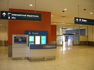 International Airport railway station, Sydney - Image: International Terminal Rail 4