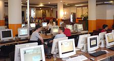 Internet-Cafe at Coffee Fellows Schützenstr. München.JPG
