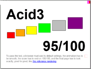 English: Acid3 rendered in Internet Explorer M...